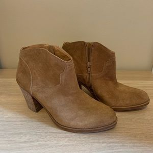 Lucky Brand Tan Ankle Booties